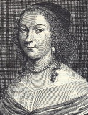 Marie de la Tour d'Auvergne (1601-1665). Fille d'Henri de la Tour d'Auvergne, duc de Bouillon, elle était aussi la soeur de Turenne.
