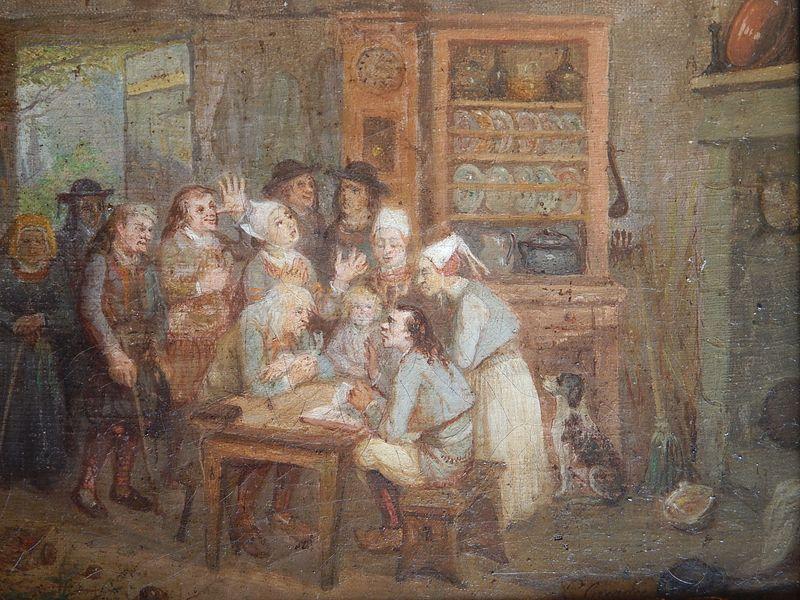 """""""Corentin lit la Bible"""", de Louis Caradec."""