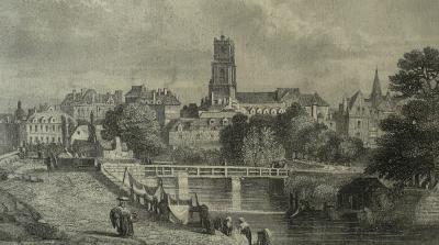Rennes et la Vilaine vers 1830 (source Jules Janin, La Bretagne, ed. 1844)