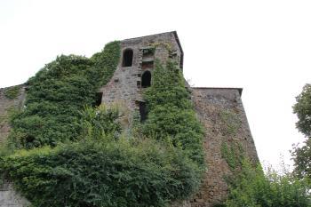 Les ruines du château de Coetquen, en Saint-Hélen (Côtes-d'Armor)