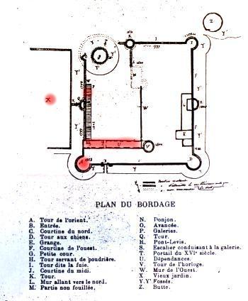 Plan du château du Bordage
