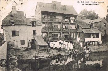 habitat urbain très pauvre autrefois à l'entrée de la Rue de Saint-Malo